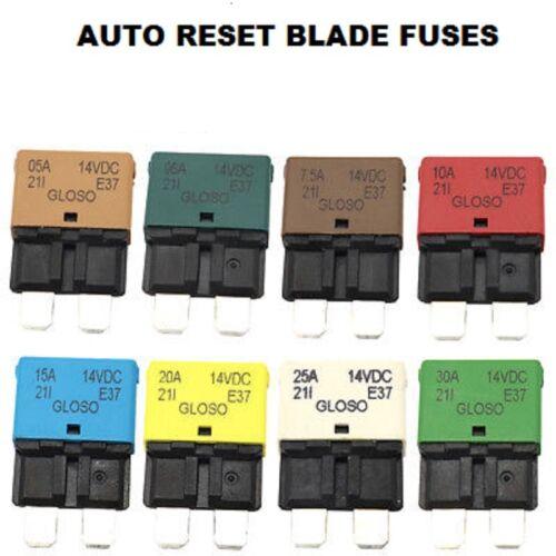FU37 5-30amp Auto Reset Blade Fuse Circuit Breaker Blade Fuses Trip Function