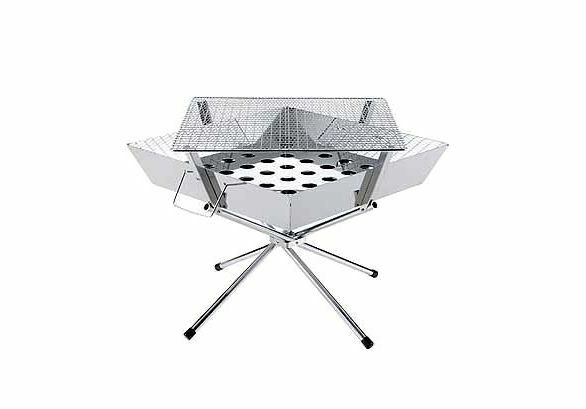 UNIFLAME Japan Cooker Stainless Camping Cooking BBQ Fire Grill Stove 683040