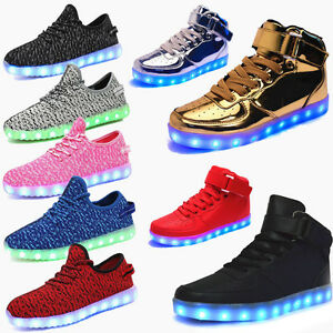 2017 High Top Sport Shoes 7 Led Light Lace Up Sneaker Luminous ... 4e8f4294e094