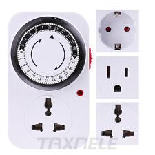 24 Hours Mechanical Mini Timer Switch Programmable Us Eu Countdown Switch Socket