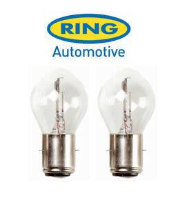Ring - 12v 35/35w BA20d - S2 - Motorcycle Headlight Bulb - RMU395 - PAIR