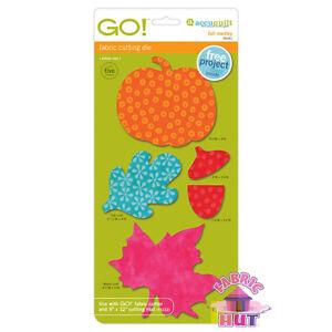 55041 - AccuQuilt GO! Big & Baby Fall Medley Fabric Cutting Die Pumpkin Applique