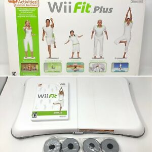 Nintendo Wii Fit Plus Balance Board w/ Wii fit Game ✅TESTED WORKS! 🚚FREE📦