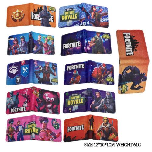 POP Fortnite Cartoon Kids Boys Money Wallet Bag Holiday Gift Birthday Present