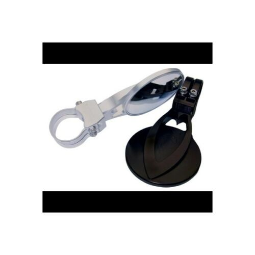 """4.0/"""" Round Full Billet Convex side mirror set of 2 Clamp size 1.5/"""" sandrail"""