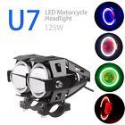 2pcs CREE U7 Angel Devil Eye Light 125W Motorcycle LED Fog Spotlight HeadLight