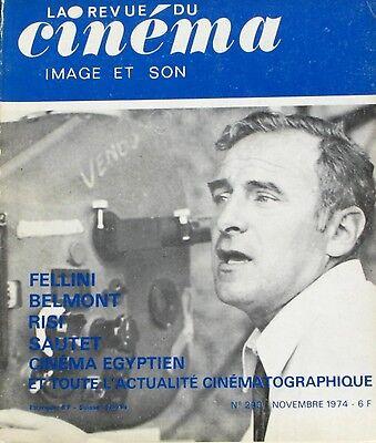 La Revue Du Cinéma N°290 - 1974 - Fellini - Belmont - Risi - Sautet - Ciné Egypt Jade Wit