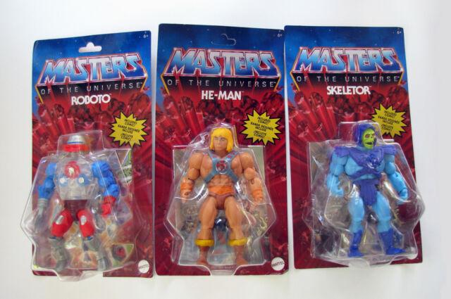 Masters of the Universe Origins He-Man Skeletor Roboto MOTU Action Figure Lot