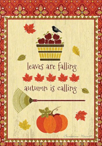 FALL DECORATIVE 0077 FALLING LEAVES BRAND NEW 28x40 LARGE GARDEN FLAG