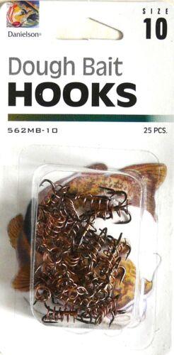 50 Danielson 562MB-10 Dough Bait Treble Fish Fishing Hooks size 10