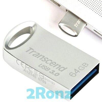 TRANSCEND JF710S 64GB 64G USB 3.0 Flash Pen Drive Disk Metal JetFlash 710 Silver