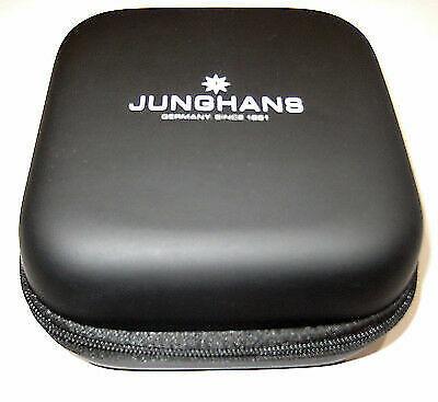 Original Junghans Uhren Box Reise Uhrenetui Kunstleder Watch-Box