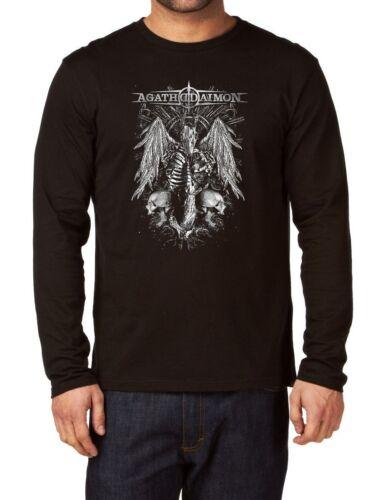 Agathodaimon Band Long Sleeve Herren T-shirt Men Rock Band Langarm Shirt