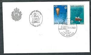 1983 San Marino Fdc Europa No Timbro Di Arrivo - Rd20