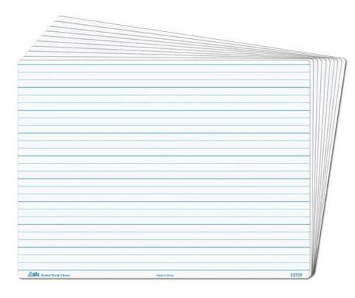 1 of 1 - Whiteboard Dotted Thirds Write N Wipe Desk A4 (1 Piece) Writing Teacher Resource