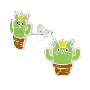 Children/'s Silver Alpaca Ear Studs — AUS Postage — Kids Sterling 925 Llama Cute