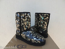 UGG CLASSIC SIERRA SPARKLES/ SEQUIN BOOTS, WOMENS US 7/ EUR 38 ~ NEW