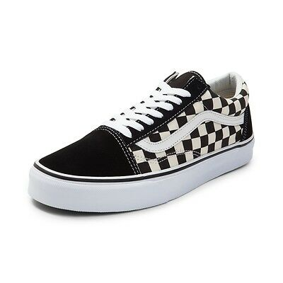 NEW Vans Old Skool Chex Skate Shoe Black White Checkerboard Primary Mens