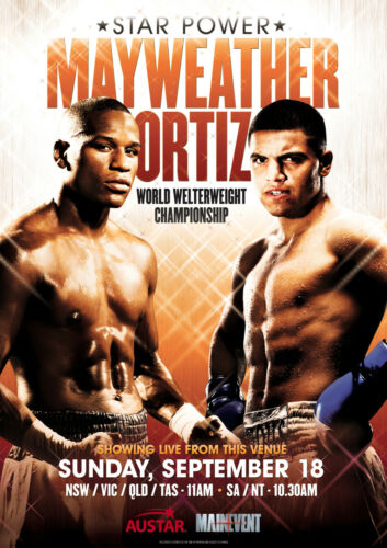 FLOYD MAYWEATHER V VICTOR ORTIZ BOXING POSTER PRINT LOOKS AWESOME FRAMED