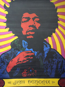 Image Is Loading Jimi Hendrix Poster Psychedelic Pin Up Music Memorabilia