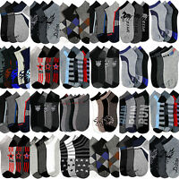 Mens Bulk Socks Wholesale Lot Size 10-13 Casual Sport Ankle Ped Assorted Colors