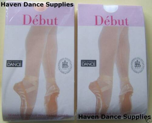 All Sizes Pink or White Debut Seamed Ballet Tights