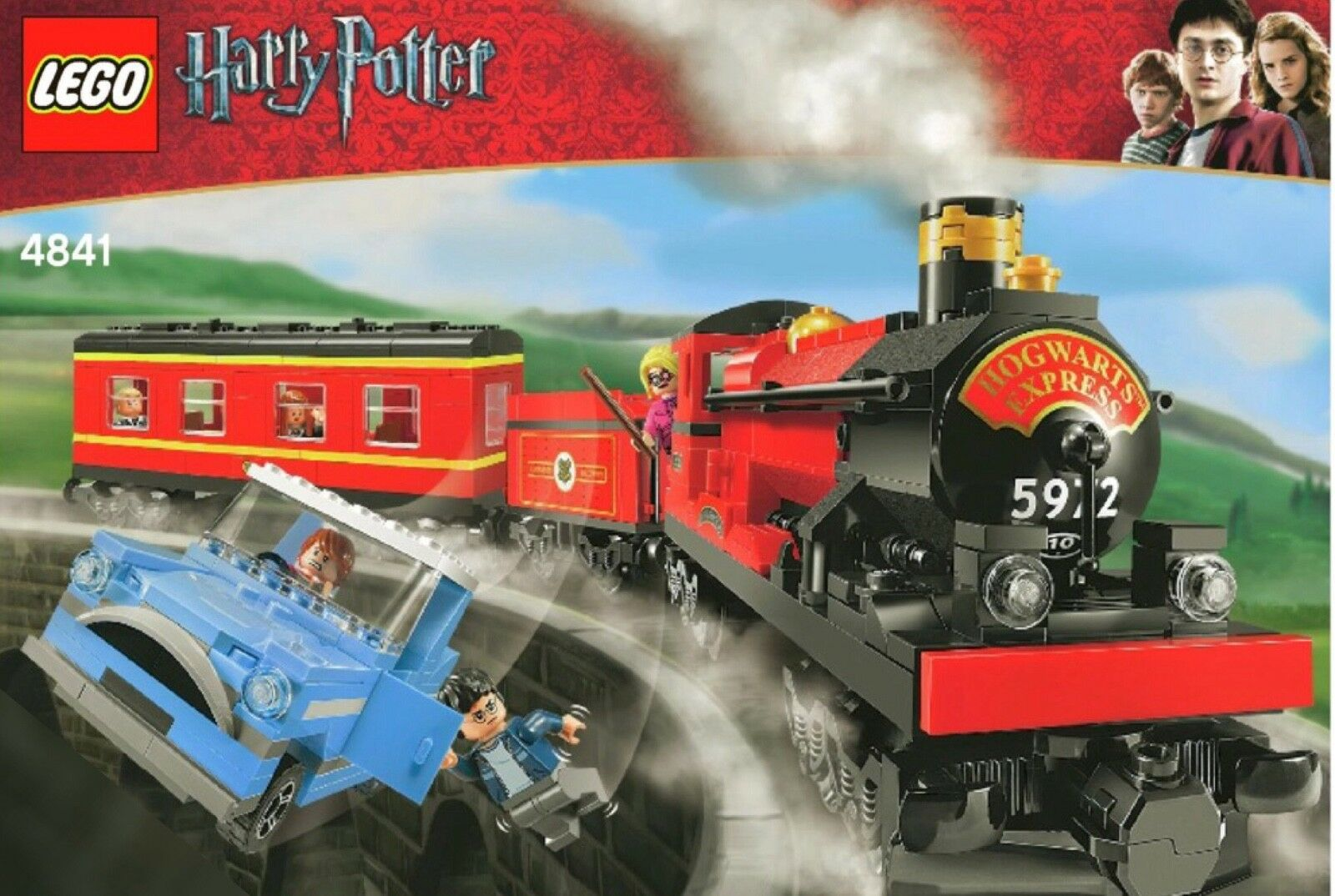 LEGO HARRY POTTER 4841 HOGWARTS EXPRESS TRAIN COMPLETE XLNT + RARE MINIFIGS