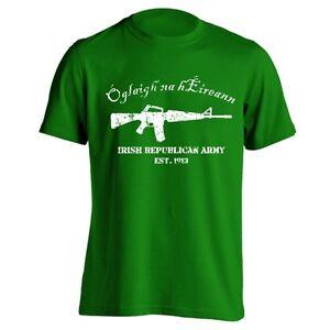 The-Irish-Army-Est-Ireland-Pride-Gaelic-Celtic-Green-Men-039-s-T-Shirt