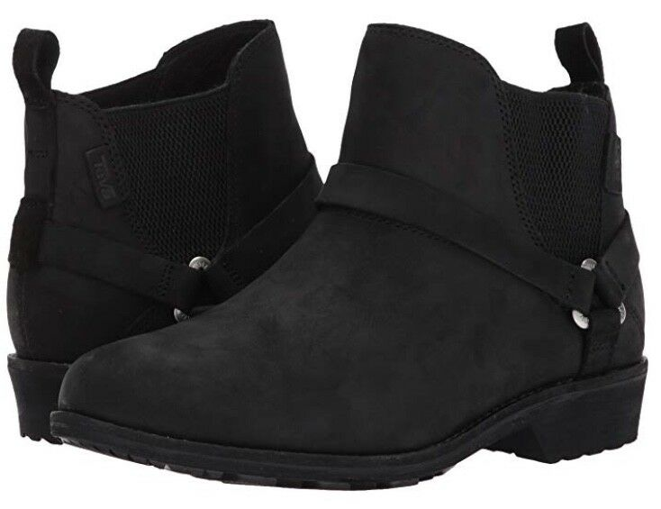 Teva Women's Delavina Dos Chelsea Premium Leather Boots Size UK 7 IDEAL FOR UK 6
