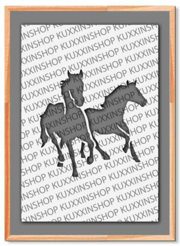 Galloping Horses Animal A5 A4 A3 Mylar Reusable Stencil Airbrush #46A