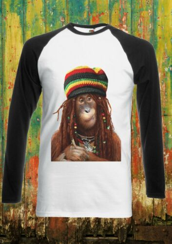 Bob Marley Reggie Hat Funny Men Women Long Short Sleeve Baseball T Shirt 1576