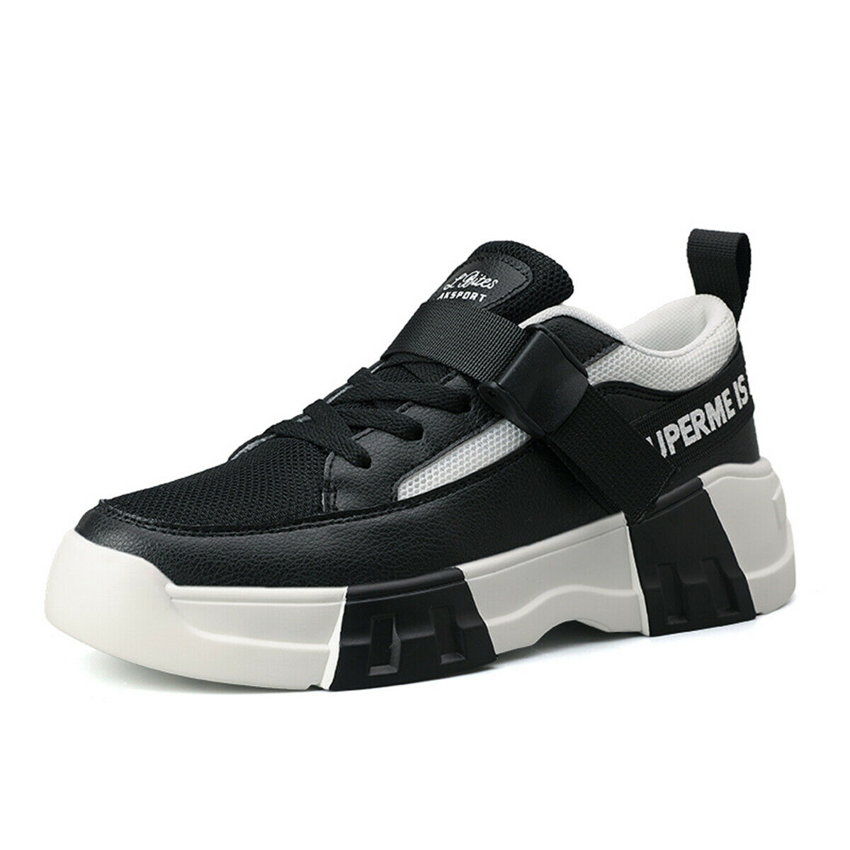 2019 New Mens Breathable Low Top Platform Running shoes Gym Walking Casual shoes