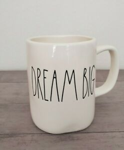 NEW-RAE-DUNN-by-Magenta-DREAM-BIG-Coffee-Tea-Mug-Farmhouse-Fall-Home-Decor