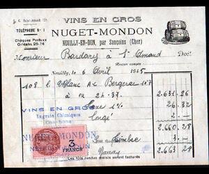 NEUILLY-en-DUN-18-VINS-EN-GROS-034-NUGUET-amp-MONDON-034-en-1945