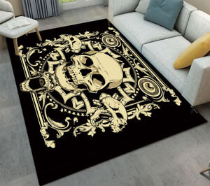 image is loading gold skull halloween home kitchen bathroom area rugs