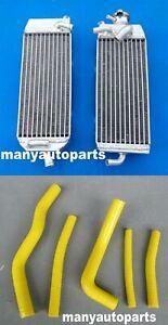 Yellow silicone hose for SUZUKI RM125 W//X//Y 1998 1999 2000 Aluminum radiator