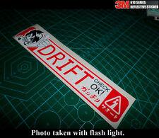DRIFT READY OK! CHECK! JDM 3M Reflective car decal Sticker