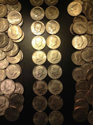 1980-1989 P D Kennedy Set 63 Bonus All 1980/'s Half Dollars Lot AU//BU SILVER