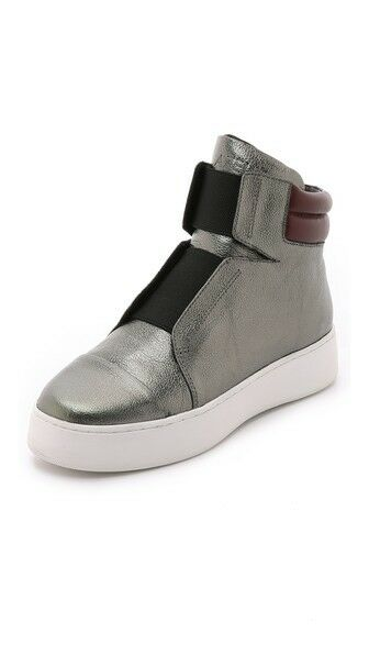 Atelje 71 Emerald Leather High Top Sneaker Ankle Boot Women Platform Shoe 8/ 39
