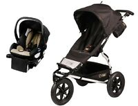 Mountain Buggy Urban Jungle Travel System In Black With Protect Car Seat +base