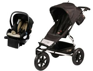 Mountain Buggy Urban Jungle Travel System in Black with Protect Car ...
