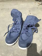 Palladium Baggy Men's 12 Grey/ Blue Folded Casual Canvas Boots Sneakers