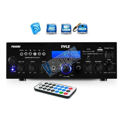 New Pyle PDA6BU Bluetooth Stereo Amplifier Receiver, FM Radio/USB/SD memory