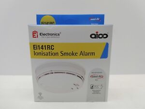 AICO-Ei141RC-MAINS-IONISATION-SMOKE-ALARM-DETECTOR-BATTERY-BACK-UP-C-W-BASE