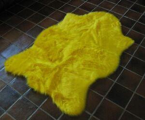 Bear Animal Shape Yellow Faux Fur Rug 2 X 4 Plush Soft