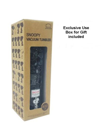 Lock /& Lock PEANUTS SNOOPY en acier inoxydable vide eau Tumbler Argent Noir 2 Taille