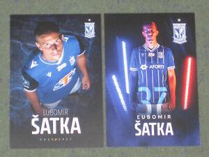 EURO 2020 2x SLOWAKEI Lubomir Satka (Lech) Newcastle York City OHNE UNTERSCHRIFT
