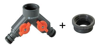530520 gratis Set 2 tlg GARDENA® 2 Wegeventil Verteiler absprerrbar 94020