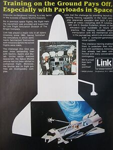 Details about 4/1982 pub singer kearfott link space shuttle flight  simulator nasa original ad- show original title