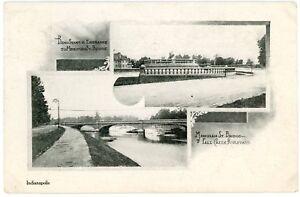 Postcard-Indianapolis-Indiana-Multi-View-of-Bridges-Indianapolis-News-Series